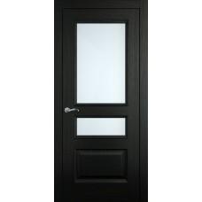 Межкомнатная дверь Мебель-Массив Гранада Эмаль RAL 9005 без патины полотно с остеклением