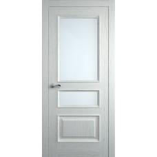 Межкомнатная дверь Мебель-Массив Гранада Эмаль RAL 9010 без патины полотно с остеклением