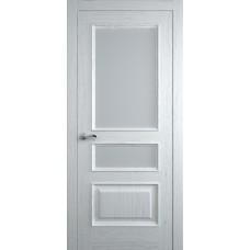 Межкомнатная дверь Мебель-Массив Гранада Эмаль белая на дубе без патины полотно с остеклением