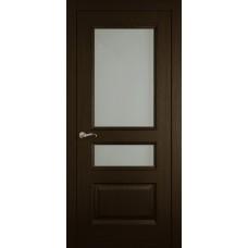 Межкомнатная дверь Мебель-Массив Гранада Темный дуб без патины полотно с остеклением