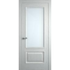 Межкомнатная дверь Мебель-Массив Гранада 2 Эмаль RAL 9010 без патины полотно с остеклением