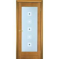 Межкомнатная дверь Мебель-Массив Капри Африканский орех без патины полотно с остеклением
