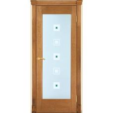Межкомнатная дверь Мебель-Массив Капри Светлый дуб без патиный полотно с остеклением