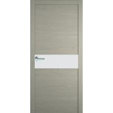 Межкомнатная дверь Мебель-Массив Кремона Эмаль RAL 7044 полотно с остеклением (стекло матовое)