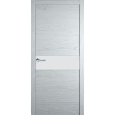 Межкомнатная дверь Мебель-Массив Кремона Эмаль белая на дубе полотно с остеклением (стекло матовое)