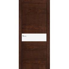 Межкомнатная дверь Мебель-Массив Кремона Коньячный дуб полотно с остеклением (стекло матовое)
