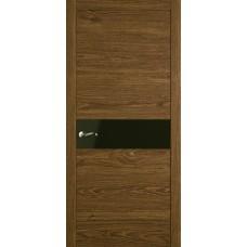 Межкомнатная дверь Мебель-Массив Кремона Светлый дуб полотно с остеклением (стекло черное)
