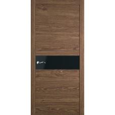 Межкомнатная дверь Мебель-Массив Кремона Табак дуб полотно с остеклением (стекло черное)