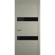 Межкомнатная дверь Мебель-Массив Кремона 2 Эмаль RAL 7044 полотно с остеклением (стекло черное)