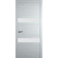 Межкомнатная дверь Мебель-Массив Кремона 2 Эмаль белая на дубе полотно с остеклением (стекло матовое)