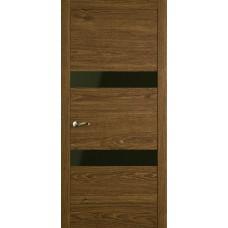 Межкомнатная дверь Мебель-Массив Кремона 2 Светлый дуб полотно с остеклением (стекло черное)