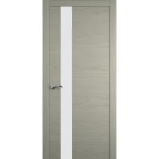 Межкомнатная дверь Мебель-Массив Кремона 3 Эмаль RAL 7044 полотно с остеклением (стекло матовое)