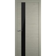 Межкомнатная дверь Мебель-Массив Кремона 3 Эмаль RAL 7044 полотно с остеклением (стекло черное)