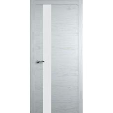 Межкомнатная дверь Мебель-Массив Кремона 3 Эмаль белая на дубе полотно с остеклением (стекло матовое)