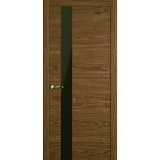 Межкомнатная дверь Мебель-Массив Кремона 3 Светлый дуб полотно с остеклением (стекло черное)