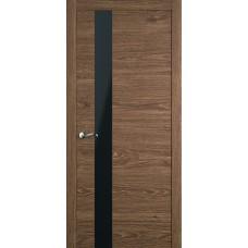 Межкомнатная дверь Мебель-Массив Кремона 3 Табак дуб полотно с остеклением (стекло черное)