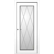 Межкомнатная дверь Мебель-Массив Лион Эмаль слоновая кость полотно с остеклением