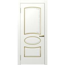 Межкомнатная дверь Мебель-Массив Милан Эмаль RAL 9010 золотая патина полотно глухое