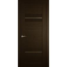 Межкомнатная дверь Мебель-Массив Неаполь 2 Темный дуб полотно с остеклением