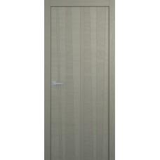 Межкомнатная дверь Мебель-Массив Некст 2 Эмаль RAL 7044 на дубе шпон вертикальный полотно глухое