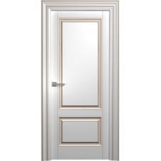 Межкомнатная дверь Мебель-Массив Палермо 1 Эмаль RAL 9010 коричневая патина полотно глухое