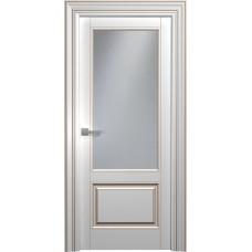 Межкомнатная дверь Мебель-Массив Палермо 1 Эмаль RAL 9010 коричневая патина полотно с остеклением