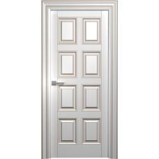 Межкомнатная дверь Мебель-Массив Палермо 10 Эмаль RAL 9010 коричневая патина полотно глухое