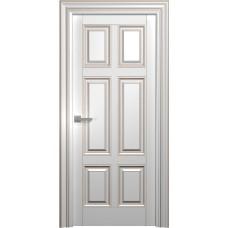 Межкомнатная дверь Мебель-Массив Палермо 11 Эмаль RAL 9010 коричневая патина полотно глухое