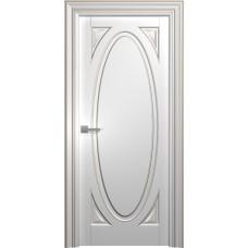 Межкомнатная дверь Мебель-Массив Палермо 12 Эмаль RAL 9010 коричневая патина полотно глухое