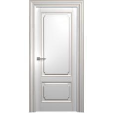 Межкомнатная дверь Мебель-Массив Палермо 2 Эмаль RAL 9010 коричневая патина полотно глухое