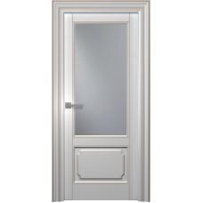 Межкомнатная дверь Мебель-Массив Палермо 2 Эмаль RAL 9010 коричневая патина полотно с остеклением
