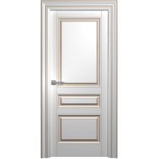 Межкомнатная дверь Мебель-Массив Палермо 3 Эмаль RAL 9010 коричневая патина полотно глухое