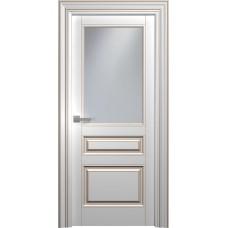Межкомнатная дверь Мебель-Массив Палермо 3 Эмаль RAL 9010 коричневая патина полотно с остеклением