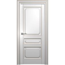 Межкомнатная дверь Мебель-Массив Палермо 4 Эмаль RAL 9010 коричневая патина полотно глухое