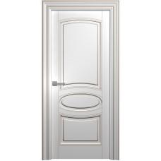 Межкомнатная дверь Мебель-Массив Палермо 5 Эмаль RAL 9010 коричневая патина полотно глухое