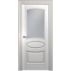 Межкомнатная дверь Мебель-Массив Палермо 5 Эмаль RAL 9010 коричневая патина полотно с остеклением