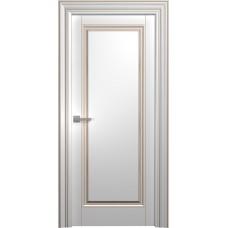 Межкомнатная дверь Мебель-Массив Палермо 6 Эмаль RAL 9010 коричневая патина полотно глухое