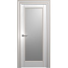 Межкомнатная дверь Мебель-Массив Палермо 6 Эмаль RAL 9010 коричневая патина полотно с остеклением