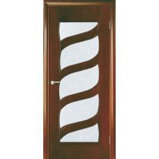 Межкомнатная дверь Мебель-Массив Парма Миланский орех без патины полотно с остеклением витраж с гравировкой
