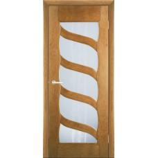 Межкомнатная дверь Мебель-Массив Парма Светлый дуб без патины полотно с остеклением витраж пескоструй