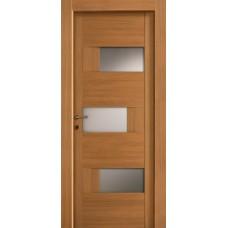 Межкомнатная дверь Мебель-Массив Призма Светлый дуб полотно с остеклением (стекло матовое)