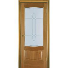 Межкомнатная дверь Мебель-Массив Севилья Африканский орех без патины полотно с остеклением
