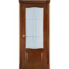 Межкомнатная дверь Мебель-Массив Севилья Миланский орех без патины полотно с остеклением