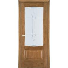 Межкомнатная дверь Мебель-Массив Севилья Светлый дуб без патины полотно с остеклением
