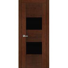 Межкомнатная дверь Мебель-Массив Толедо Коньячный дуб полотно с остеклением (стекло черное)