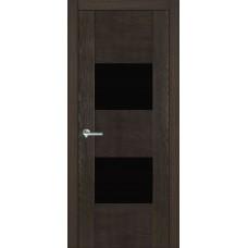 Межкомнатная дверь Мебель-Массив Толедо Пепельный дуб полотно с остеклением (стекло черное)
