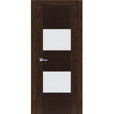 Межкомнатная дверь Мебель-Массив Толедо Темный дуб полотно с остеклением (стекло матовое)