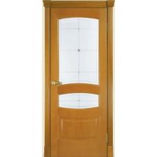 Межкомнатная дверь Мебель-Массив Валенсия Африканский орех без патины полотно с остеклением
