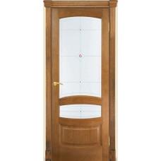 Межкомнатная дверь Мебель-Массив Валенсия Светлый дуб без патины полотно с остеклением