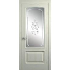 Межкомнатная дверь Мебель-Массив Венеция Эмаль RAL 1013 без патины полотно с остеклением витраж